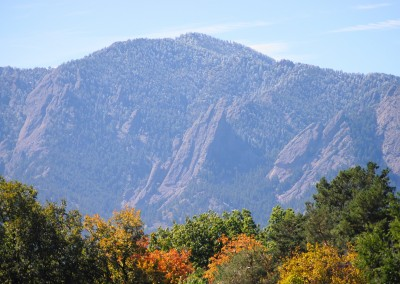 Fall Flatirons Boulder Colorado