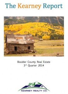 Kearney Realty report Boulder Real Estate Statistics