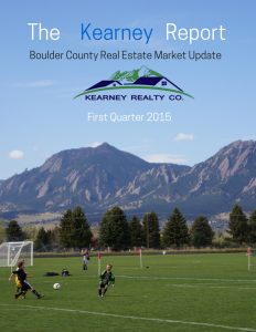Boulder Real Estate update