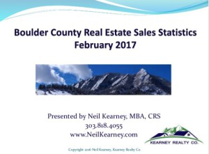 Boulder County Real Estate Statistics – February 2017