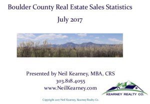Boulder County Real Estate Statistics – July 2017