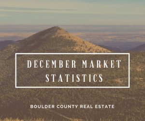 Boulder Real Estate Statistics for December 2017