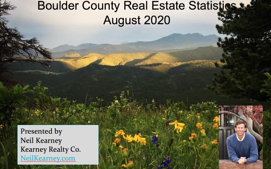 Boulder County Real Estate Statistics for August 2020